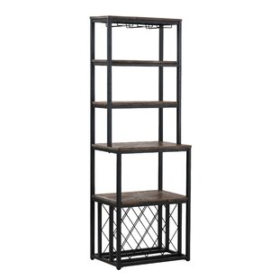 Gracie Oaks Shayna Iron Baker's Rack