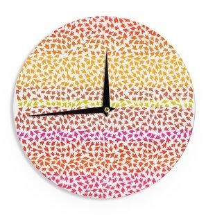 Sreetama Ray 'Sunset Arrows' 12 Wall Clock by East Urban Home