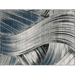 Reviews Cowgill Gray/Dark Blue Area Rug ByEbern Designs