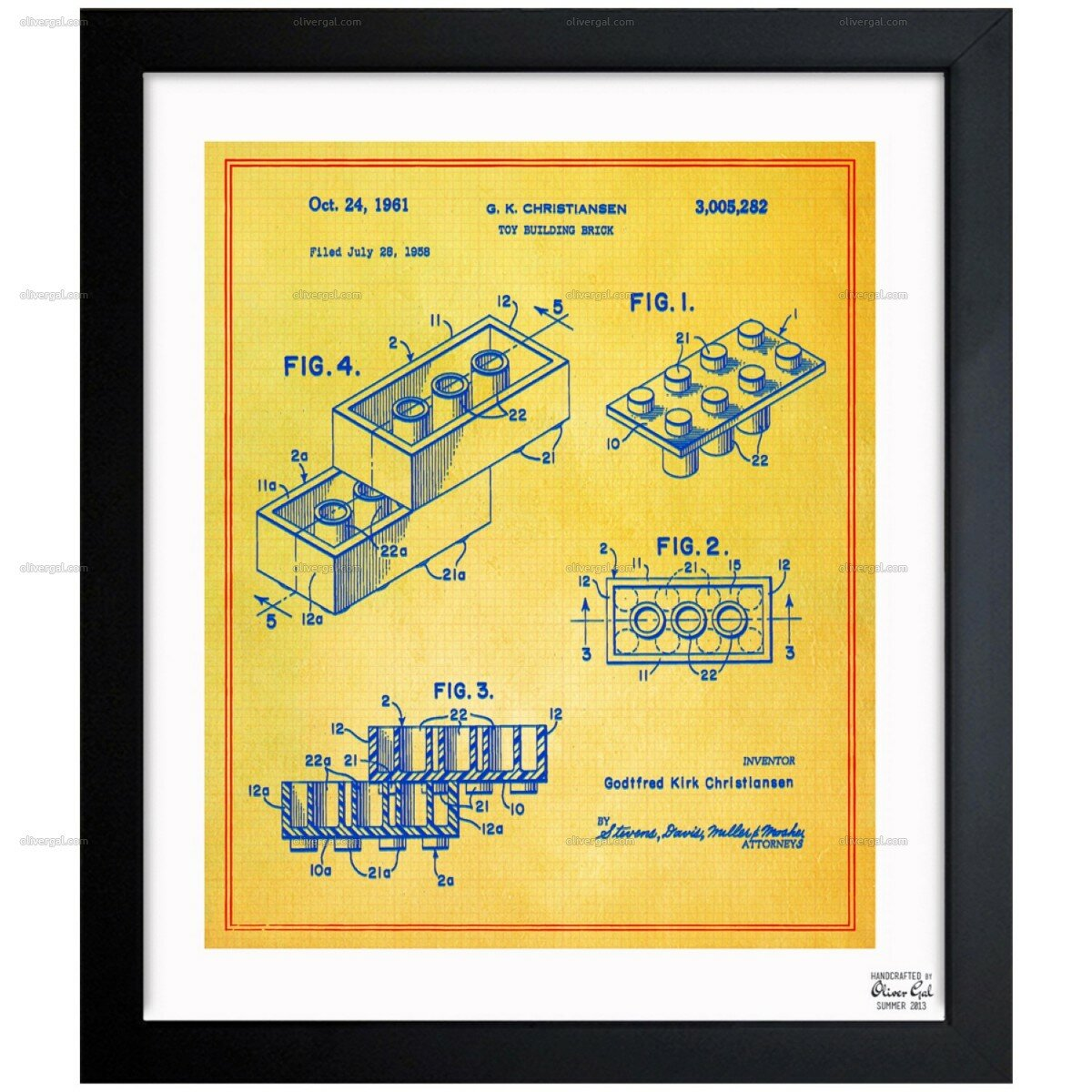 Oliver Gal Lego Toy Building Brick 1961 Framed Graphic Art & Reviews ...