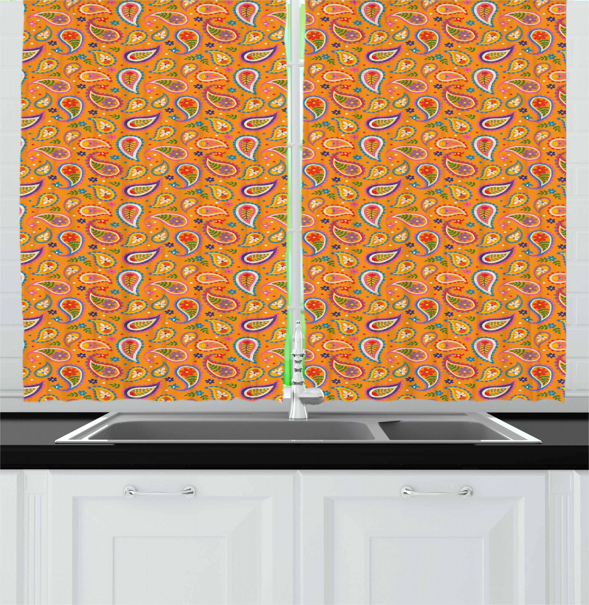 East Urban Home Ethnic Kitchen Curtain Wayfair