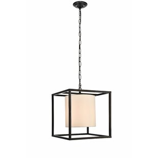 Reviews Reinhard 1-Light Square/Rectangle Pendant By Wrought Studio
