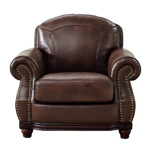 Mendenhall Leather Club Chair By Three Posts