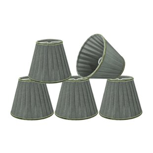Pleated 5'' Fabric Empire Lamp Shade (Set of 5)