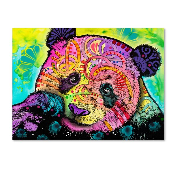 'Psychedelic Panda' Animal Psychedelic Wall Art Decor