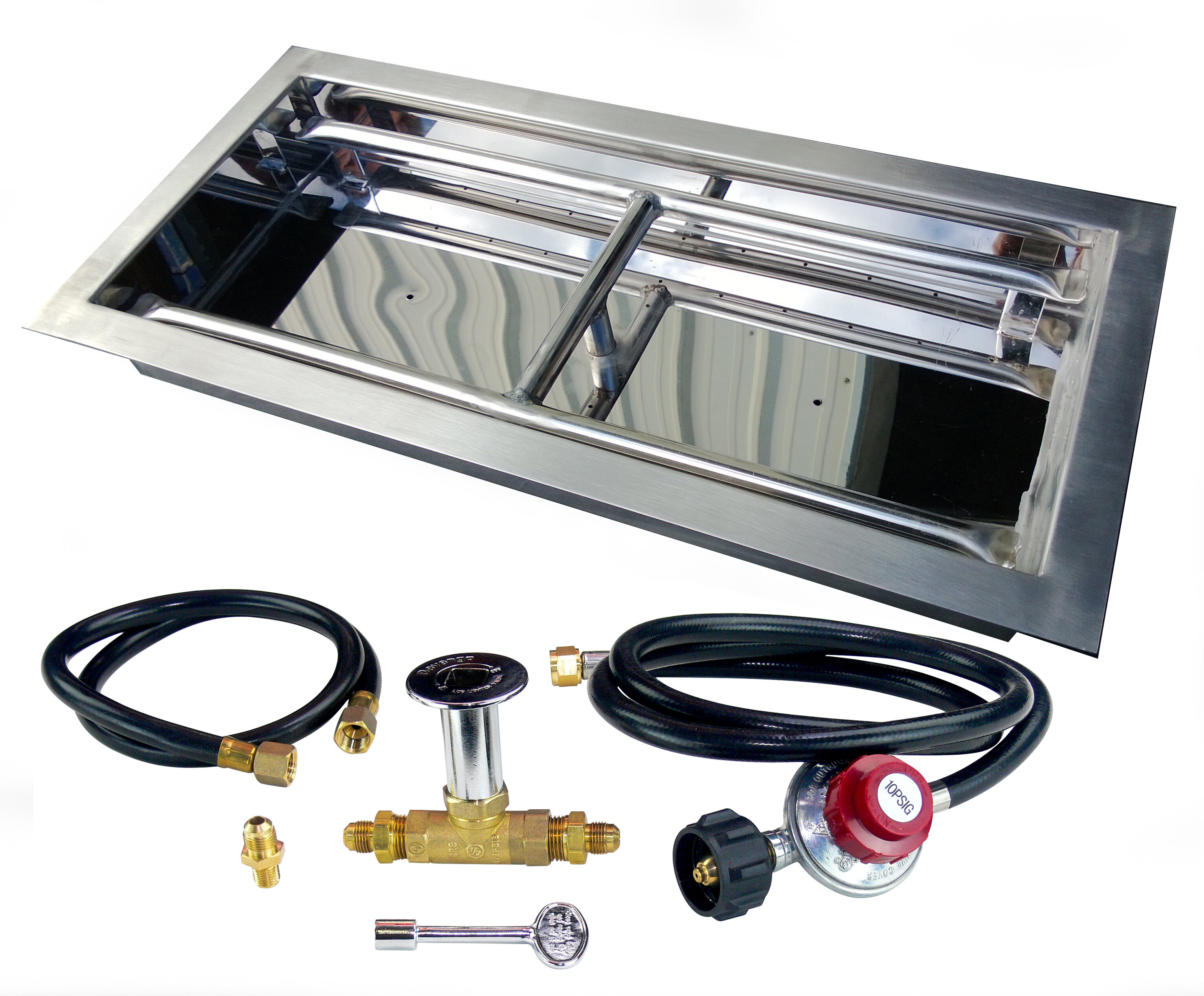 Etco Stainless Steel Drop In Propane Gas Fire Pit Burner Kit Reviews