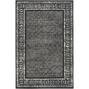Timothee Black/Silver Area Rug
