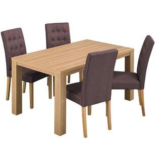 Semaj Dining Set With 4 Chairs By Mercury Row