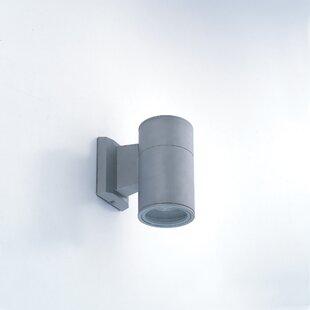 Orren Ellis Tylor 1 Light Outdoor Cylindrical Wall Sconce