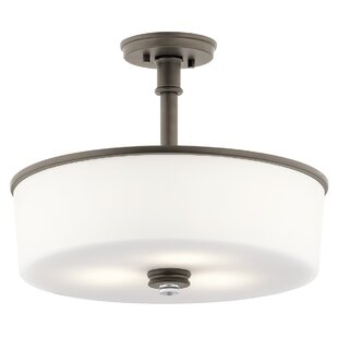 Bourdeau 3-Light Semi Flush Mount by Darby Home Co