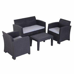 Quillen 4 Seater Rattan Sofa Set Image