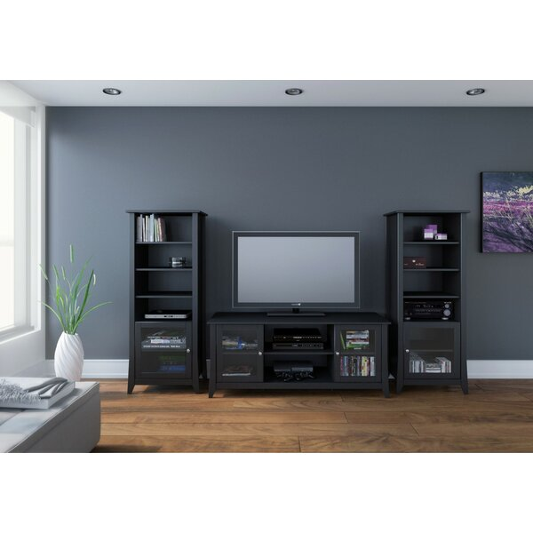 f3a6d98ace5cd Zipcode Design Alesha Entertainment Center For Tvs Up To 65. Walker Edison  Furniture Company Essential Black Entertainment Center