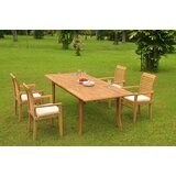 Ilwell 5 Piece Teak Dining Set
