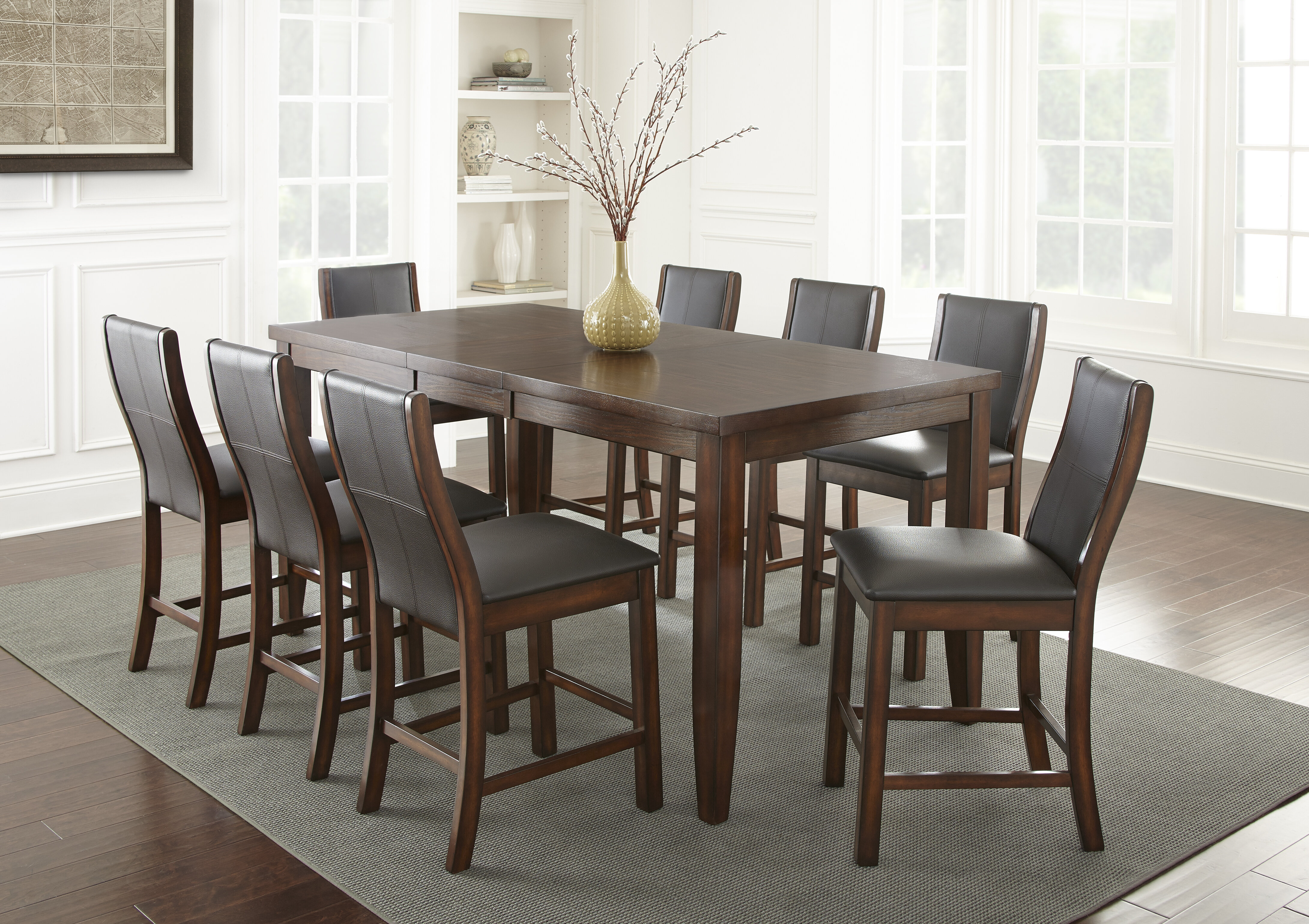 Incroyable Alcott Hill Abigale 9 Piece Counter Height Dining Set | Wayfair