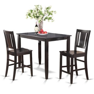 Lightner 3 Piece Counter Height Dining Set