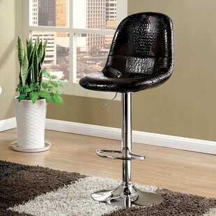 Styx Adjustable Height Swivel Bar Stool Orren Ellis