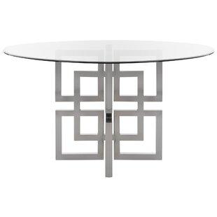 Orren Ellis Petree Glass Top Dining Table