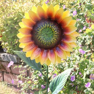 Edison Sunflower Garden Stake By Sol 72 Outdoor