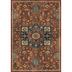Ponce Antique Merekan Red/Blue Area Rug