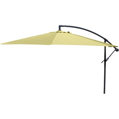 Brayden Studio Trotman 10' Cantilever Umbrella Fabric: Yellow