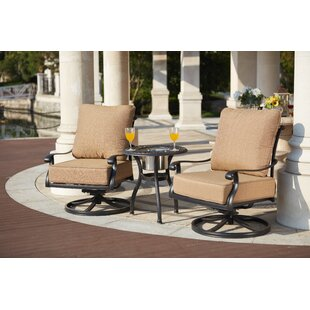 Melchior 3 Piece Conversation Set with Cushions by Astoria Grand