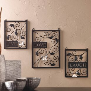 Perfect Live Love Laugh 3 Piece Black Wall Décor Set