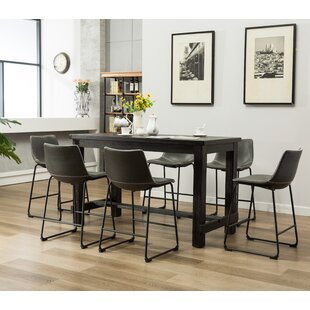Bamey 7 Piece Counter Height Dining Set b..