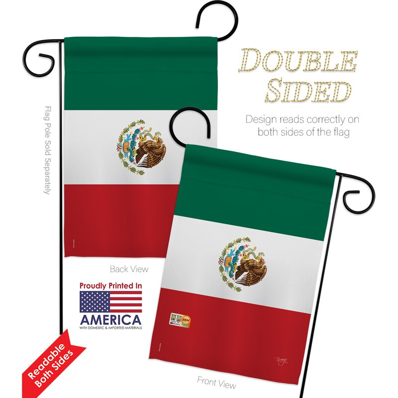 Breeze Decor Mexico Country Impressions Decorative 2 Sided Polyester 19 X 13 In 2 Piece Garden Flag Set Wayfair