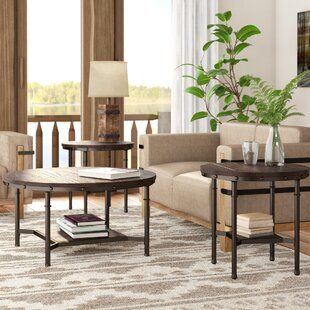 Loon Peak Croley 3 Piece Coffee Table Set