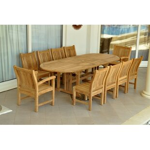Sahara 11 Piece Teak Dining Set by Anderson Teak