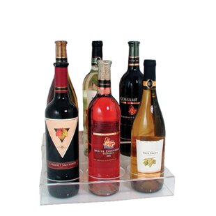 Two-tier 6 Bottle Tabletop Wine Bottle Ra..
