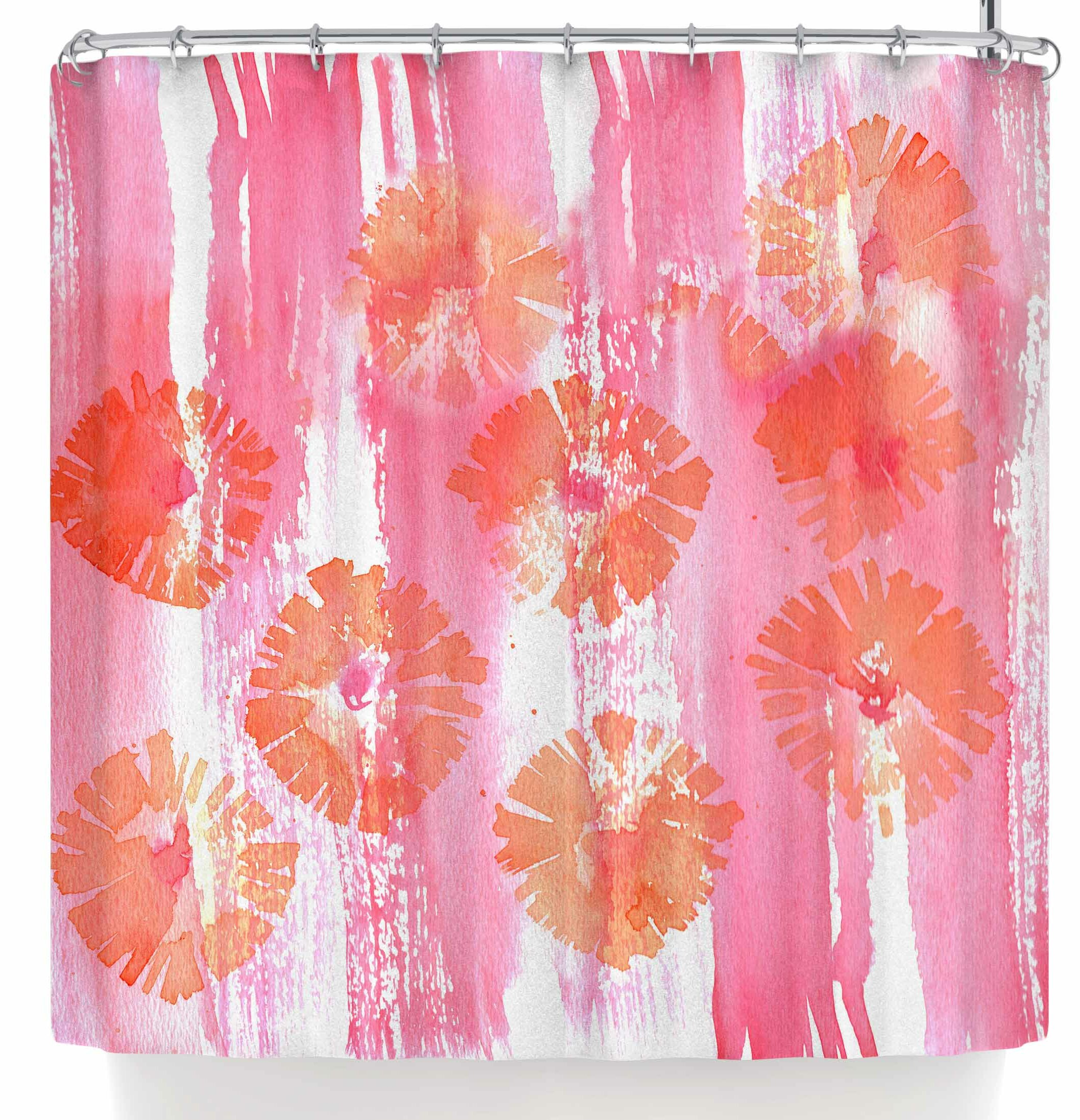 East Urban Home Catherine Holcombe Poppin Poppies Shower Curtain