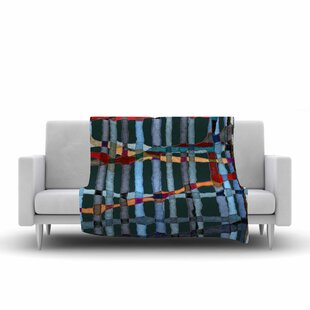 Reviews Patternmuse Midnight Bamboo Multicolor Painting Fleece Blanket ByEast Urban Home