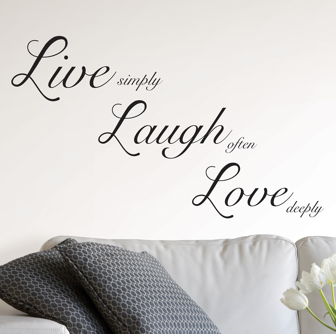 Ebern Designs Live Laugh Love Wall Decal Reviews Wayfair,Country Farmhouse Kitchen Lighting Ideas
