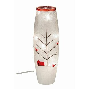 The Holiday Aisle Crackle Glass Light Up Cardinal Décor