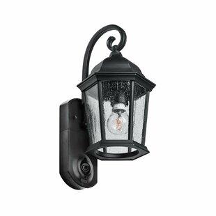 Fleur De Lis Living Hodgkins Security Camera Outdoor Wall Lantern