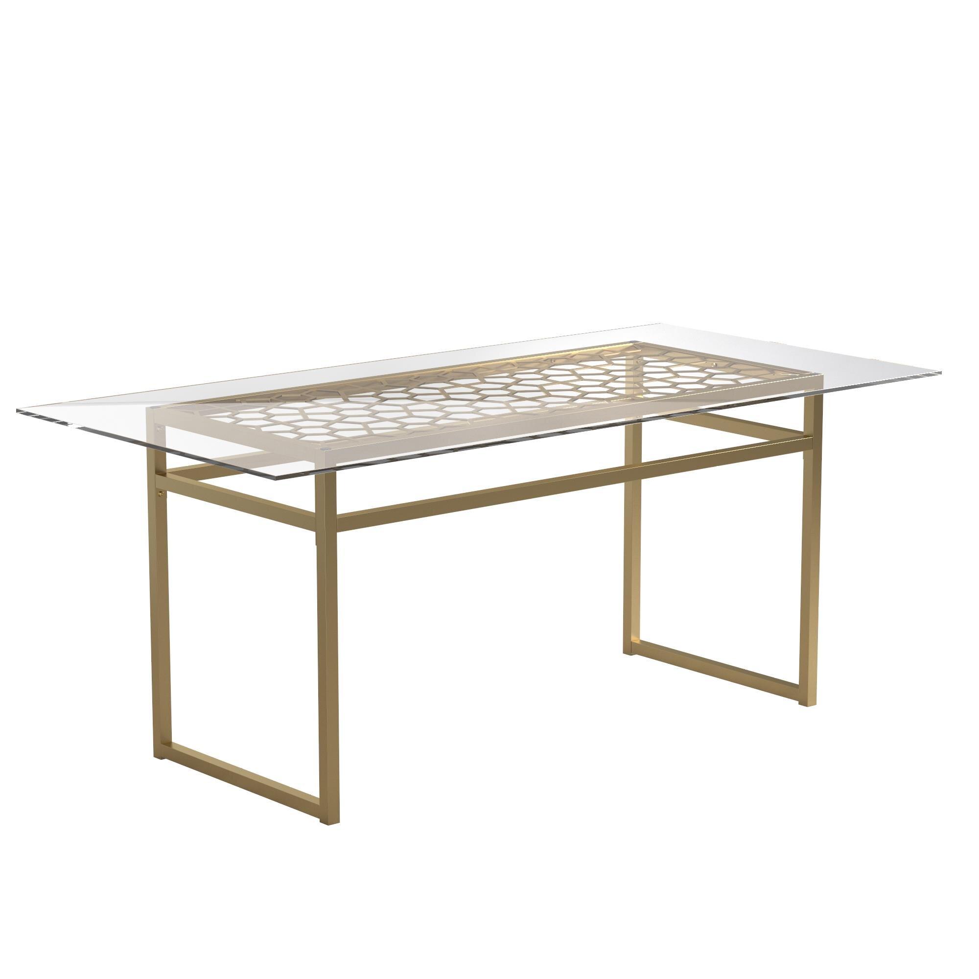 Cosmoliving By Cosmopolitan Juliette 36 Glass Top Dining Table Wayfair