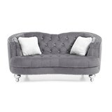 Karli Curved Loveseat by Everly Quinn