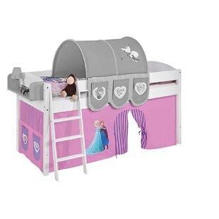 Disney's Frozen European Single Mid Sleeper Bed With Curtain By Frozen