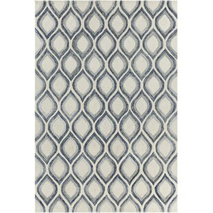 Inexpensive Delong Patterned Contemporary White Area Rug By Brayden Studio