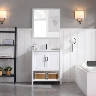Mattis 30 Wall-Mounted Single Bathroom Vanity Set with Mirror by Gracie Oaks