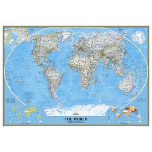 Giant World Map Mural Wayfair