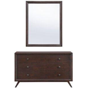 Arabella 3 Drawer Dresser with Mirror