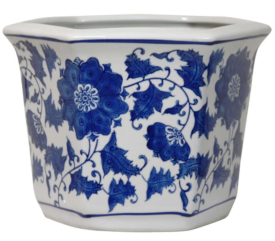 Oriental Furniture Chinese Porcelain Pot Planter Amp Reviews