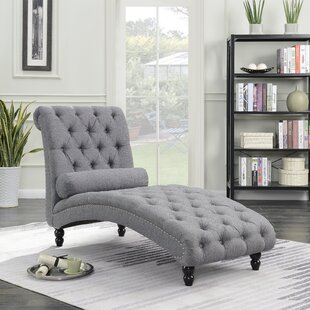 Price comparison Filip Armless Chaise Lounge with Accent Nailheads by Charlton Home Reviews (2019) & Buyer's Guide