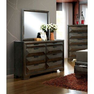 Mitchell 8 Drawer Double Dresser with Mirror