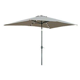 Wade Logan Bangert 10' X 6.5' Rectangular Lighted Umbrella