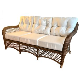 Elkin Patio Sofa with Cushions by August Grove