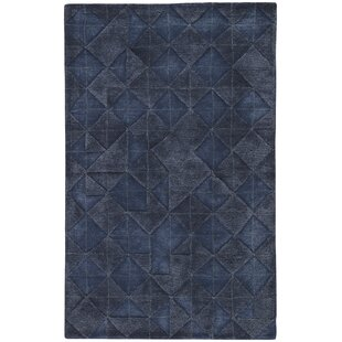 Reviews Eaddy Hand-Tufted Blue Nights/Mood Indigo Area Rug By Wrought Studio
