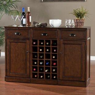 American Heritage Natalia Bar Cabinet with Wine Storage